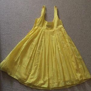 Club Monaco yellow strappy dress pleats size 0